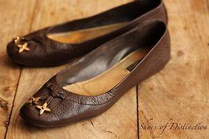 Louis Vuitton Brown Leather Sandals Flats Shoes Ladies UK 4.5 US 6.5 EU 37.5