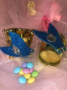 "Little Mermaid Beach Party Candy Bucket Birthday Bridal Shower Sweet 15/16; 2"""