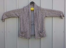 Chico's Easy Wear Size 2 Women's Jacket  Spandex Brown with white spots