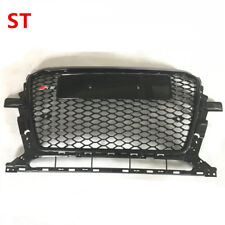 For Audi Q5 SQ5 SUV 2013-2015 Black Front Mesh Grille Grill To RSQ5 Style