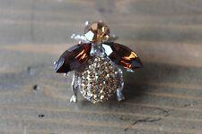 Gorgeous Rhinestone Honey Bee Brooch