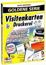 Visitenkarten-Druckerei 10 von Data Becker | Software | Zustand gut