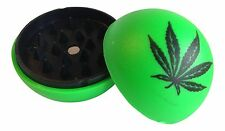 Plastic Herb Spice GREEN LEAF Tobacco Grinder Ball SAME DAY SHIPPING!!!