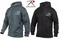 Rothco Mens Thin Blue Line Police Sweat Shirt Concealed Carry Hoodie Sweatshirt