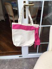 Clarins Cream & Pink Large Tote Bag Beach Shopping.