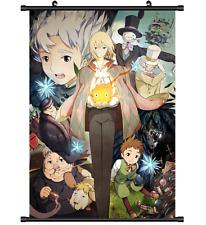 3604 Anime Howl no Ugoku Shiro Howl's Moving Castle Wall Poster Scroll cosplay