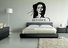 Wall Sticker Mural Decal Vinyl Decor Beyonce Celebrity Star American Singer