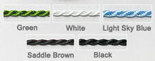 """Black Twisted Rope Chain Necklace Silk Cord 16"""" Long 2mm Thin Japanese"""