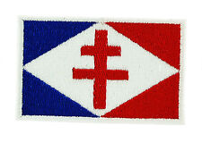 FRANCE WWII FRENCH CROSS DE GAULLE FLAG PATCH BADGE IRON ON Croix de lorraine