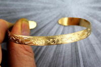 Cuff Bracelet in 14kt Rolled Gold Size 6 to 8  Cut to Size
