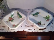 VINTAGE CERAMICA DUE TORRI POTTERY SALAD PLATES PLATTER ITALY HAND PAINTED