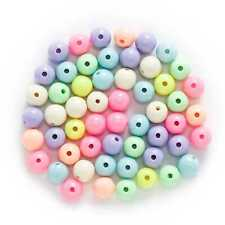50 Piece Random Mixed Candy Color Acrylic Round Spacer Beads Jewelry Making 10mm
