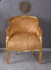 Sillón Antiguo Oro Silla Rococó Sillón Barroco Francia Bergere