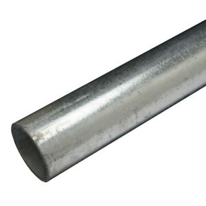 Qty 3 x 3.5m Lengths Galvanised Steel Handrail Tube 42.4mmO/D 32mmNB Key Clamps
