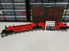 Lego Custom 10170 In Red New Parts, Train 9v TTX