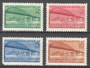 YUGOSLAVIA 1948 - DANUBE CONFERENCE Belgrade MI. 548/551 MNH SET