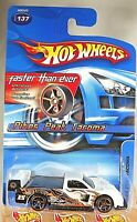 2005 Hot Wheels Faster Than Ever #137 PIKES PEAK TACOMA White w/Gold FTE Spokes