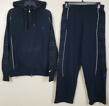 NIKE JORDAN XI 11 RETRO CONCORD SUIT HOODIE + PANTS SPACE JAM BLACK (SIZE LARGE)