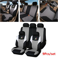 9x 5-Seat Car Seat Covers Front Rear Full Set Polyester For Interior Accessories