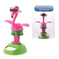 Solar Powered Dancing Flamingo Toy Bobblehead Desk Office Car Dashboard Figure