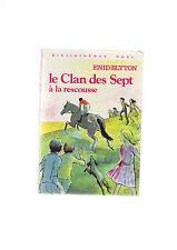 bibliotheque rose - hachette - le clan des sept a la rescousse - blyton -
