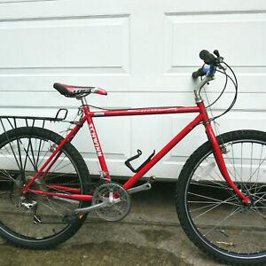 """Vintage Schwinn Sierra Bicycle Classic 80s MTB 17.5"""" CroMo Frame Red"""
