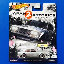 2017 Hot Wheels Car Culture JAPAN HISTORICS 2 1969 DATSUN BLUEBIRD 510 mint!