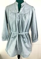 Levi's Cropped Sleeve Chambray Shirt Dress Size S