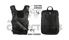 Mission Critical Tactical Front Baby Carrier & Daypack Carrier Bundle Black 2018
