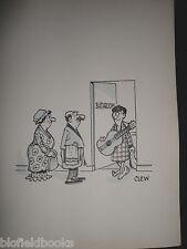 """Clifford C Lewis """"angolo di scotta"""" Originale Penna E Inchiostro CARTONE ANIMATO-Bagno Coda & Son #256"""