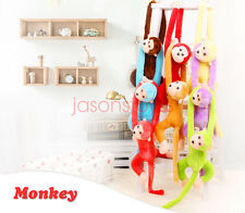 Colorful Long Arm Monkey Soft Plush Doll Stuffed Animal Toy Kids Hanging New