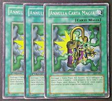 Set 3 Carte ANNULLA CARTA MAGIA  Comune da Mazzo in Italiano (VG) YUGIOH