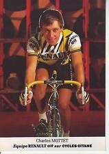 CYCLISME carte cycliste CHARLES MOTTET équipe RENAULT ELF 1985