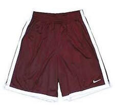 NIKE Hustle BURGUNDY WHITE Athletic Basketball SHORTS Lebron Cavs MENS M NWT