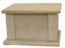 Adult Cremation Ashes Urn, Funeral Memorial Outdoor Garden Marble Casket REDUCED