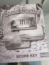 School Of Tomorrow U.S.Civics  Score Key 1-3 1133-1135
