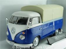 VOLKSWAGEN T1 PICK UP VAN TRANSPORTER 1:43 SCALE BLUE MODEL CARARAMA 251PND K8Q