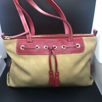 """authentic dooney bourke Shoulder Bag Red And Beige (Length 13 Inches Height 9"""")"""
