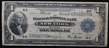1914 US $1 Federal Reserve Bank of New York One Dollar Series of 1918 F-713