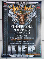 HEIDENFEST 2011 TOUR - FINNTROLL-TURISAS-ALESTORM  orig.Concert-Poster DIN A 1