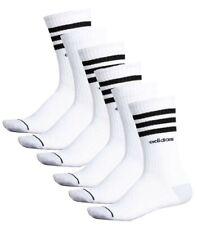 adidas Climalite Cushioned Crew Socks 6 Pair Pack White Large Stripes Men's