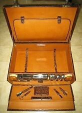 Fine Antique Gentleman's A&F Crocodile Presentation Suitcase with Grooming Items