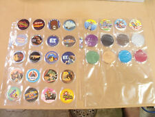 UNIVERSAL STUDIOS MCDONALDS COMPLETE SET of ALL 24 POGS + 8 SLAMMERS in POG PAGE