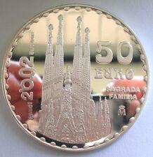 Spain 2002 Sagrada Familia 50 Euro 5oz Silver Coin,Proof