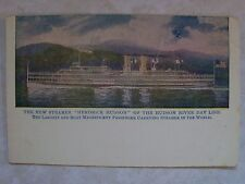 "The New Steamer ""Hendrick Hudson"" River Day Line.Undivided Back Unused  Postcard"