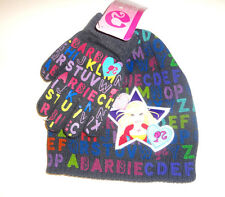 Barbie GIRLS Winter Hat & Gloves SIZE- One Size Fits Most NWT