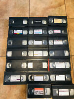 Lot 20 VHS Tapes PreRecorded MOVIE TV  Content Sold As Used Blanks D