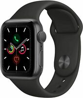 Apple Watch Series 5 (40mm, GPS) - Space Gray w/ Black Sport Band