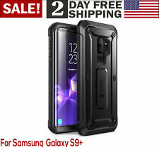 Samsung Galaxy S9+ Plus Case Full-Body Rugged Holster Cover Shockproof Black