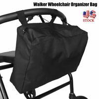 "Portable Walker Wheelchair Organizer Hanging Storage Bag with 3 Hook&Loop ""Gift"""